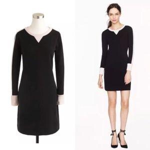 J Crew Size 2 Black Long Sleeve Sweatshirt Dress